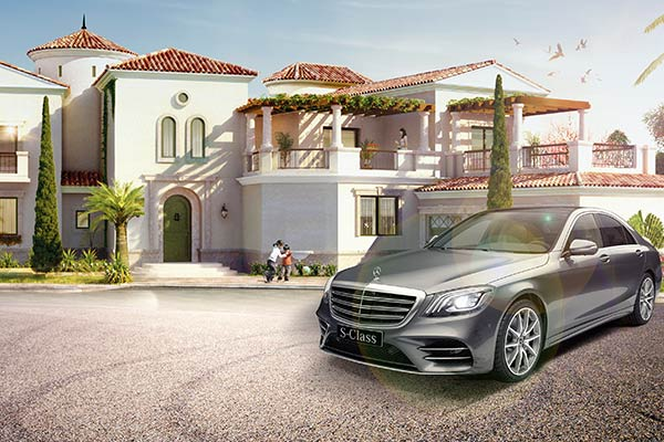 Mercedes-Benz with every villa – guaranteed