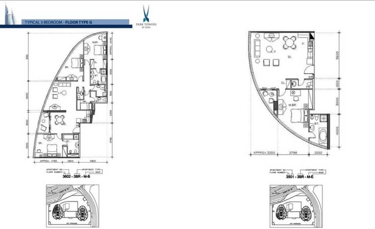 Towers Floor Plans Park Towers Damac Properties