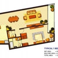 Ocean Heights by DAMAC - Floor Plan