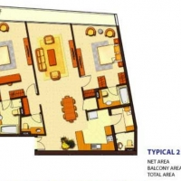 Ocean Heights by DAMAC - Floor Plan